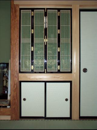 和風木製建具ドア1