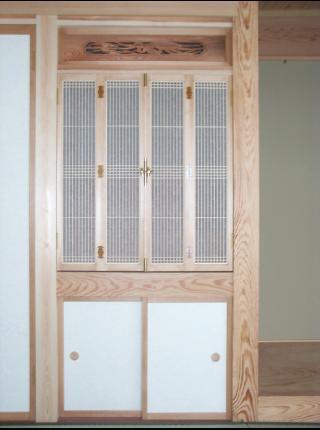 和風木製建具ドア4